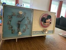 MICKEY MOUSE GE #2418A YOUTH AM CLOCK RADIO-1960's-EVERYTHING WORKS !!