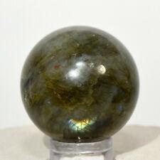 30mm Rainbow Flash Labradorite Sphere Natural Spectrolite Crystal - Madagascar