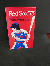 MLB- 1975 BOSTON RED SOX POCKET SCHEDULE W/ MAP