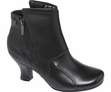 HUSH PUPPIES Lydie Verona Womens Side Zip Up Victorian Black Ankle Boots UK 6 39