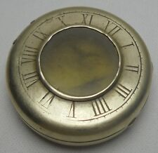 ANTIQUE STERLING SILVER POCKET WATCH HOLDER COMMUNION HOST HOLDER CASE RARE