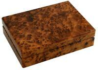 WOODEN BOX THUYA HANDMADE MOROCCAN JEWELRY BOX THUYA STORADE BOX WOOD THUYA