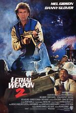 LETHAL WEAPON 2 (1989) ORIGINAL INTERNATIONAL MOVIE POSTER  -  ROLLED