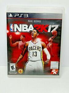 NBA 2K17 (Sony PlayStation 3, 2016) PS3 Basketball Video Game No Manual