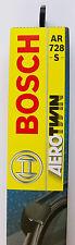 BOSCH spazzola tergicristallo 3397118904 set anteriore AR728S 550/475mm BMW
