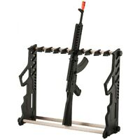 ADJUSTABLE RIFLE GUN DISPLAY STAND Hanger Mount Storage Organizer Holder Rack