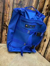 Small Blue canvas fabric JCB wheeled travel bag suitcase new