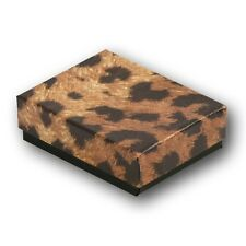 Leopard Cotton Filled Jewelry Gift Boxes 3 12 X 3 12 X 1 Tall Lot Of 50