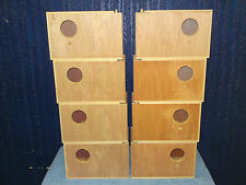 8 Budgie Nest Boxes 4 right & 4 Left Hand Entry Aviary Breeding Bird Nesting Box