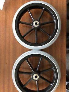 Wheelchair Wheels 190mm X29mm, 60mm Hub 8mm Axle Hole. (2 Pieces )