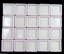 20 Pcs 3x3cm Wholesale Gem Display plastic box Storage for Gemstones/Diamond