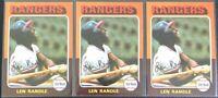 LEN RANDLE 1975 TOPPS (3) VINTAGE BASEBALL CARD LOT #259