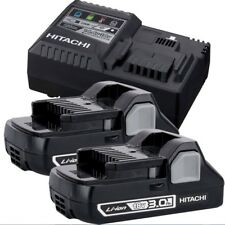 Hitachi UC18YSL3S 18V Li-Ion Starter Kit w/ 2 3.0ah + Charger w/ USB Port New