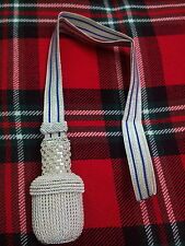 5GERMAN OFFICER SWORD KNOT SILVER/ARMY SWORD KNOT/SWORD KNOT