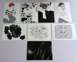 IKEA Art cards / postcards - Contemporary, fashion cards, 8 pack (NO ENVELOPES)