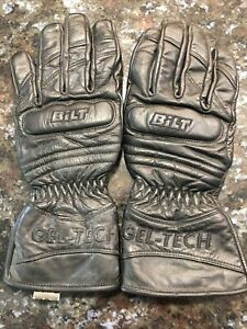 Bilt Motorcycle Leather Gloves Ladies Medium BLG17 GEL-TECH 100% Outer Leather