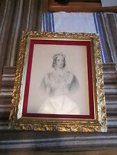 Beautifully framed Lady Seymour the Queen of Beauty etching WH MOTE 1842 RARE!!