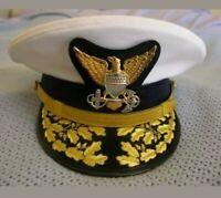 Replica US Coast Guard Admiral Hat Cap Hand Embroidery