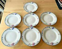 "ONEIDA china BLUE LATTICE Pattern Bread & Butter Plate 6"" - Set of 7 - DISCNTND"