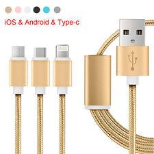 3 en 1 chargeur câble usb multi pour iPhone Samsung Galaxy HTC Type C phones