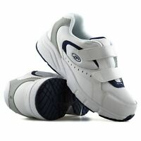 Mens Dr Scholls Wide Fit Leather Casual Walking Gym Comfort Trainers Shoes Size