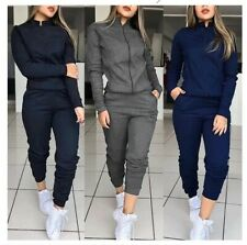 Sports Suit Two-Piece set tracksuit pullover tops long pants Fitness Workout 4