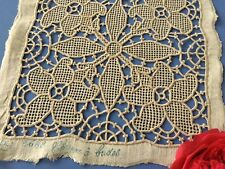 Incrustation ancienne Coton Brodée main  1660/ LOT -I