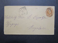 Netherlands Indies 1897 10c Postal Stationery Cover Used / KLATEN CDS - Z7192