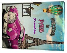 Tin Sign XXL Travel Kitchen  welcome to paris