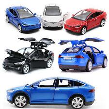 Tesla Model X 90D SUV Die Cast Pull Back Modellauto Auto Spielzeug SAMMLUNG