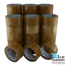 Premium Clear Packaging Tape 48mm x 75m Rubber - 36 Rolls SYDNEY FREE SHIPPING
