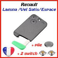 Carte Cle Telecommande Clef Renault Laguna / Vel Satis / Espace /2 switch + pile