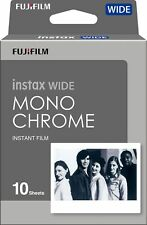 Fuji Instax Wide Monochrome film 300 210 200 100 Instant Camera-Black P....