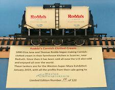 Dapol Rodda's Cornish Clotted Cream, 20 Ton Tank Wagon Nº RC2 - LE of 122 Boxed
