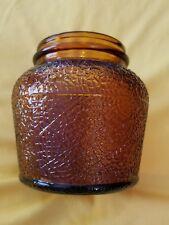 B&M BAKED BEANS GLASS JAR CROCK VINTAGE AMBER BROWN ANCHOR HOCKING BRICK OVEN