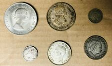 6 Different SILVER Foreign Coin Lot from 5 Different Countries!!!