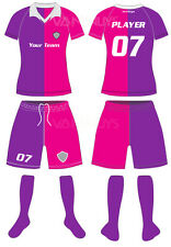 Ladies Soccer Team Uniform Set Jersey and Shorts High Professional 14 sets