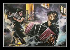 Volker Welz Druckgrafik Bandonion Akkordeon Concertina Tango Tanz Argentinien AK