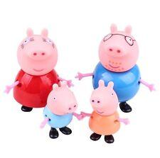USA-Seller 4Pcs Pig Toys Papa Pig Family Set Model Toys For Children