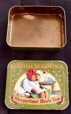 Celestial Seasonings Sleepytime Vintage ? Metal Tea Tin EMPTY Flaws BEST OFFER