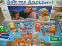 ASK ME ANOTHER Board Game MB Games Milton Bradley Vintage 1984