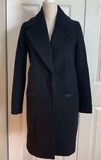 NEW MASSIMO DUTTI Woman's Wool Jacket Coat Black sz 10