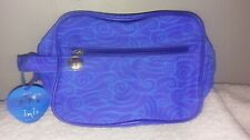 Inis Blue Wave Travel Makeup or Toiletry Bag with Zipper