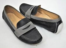 8a751987a03 Womens Cole Haan Moccasin Driving Loafers Flats Black Gray 9B White Sole