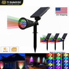 4 Pack Solar Power Spotlight Garden Outdoor Lawn Lamps Landscape Waterproof RGB