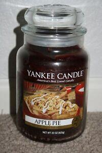 "Yankee Candle ""Apple Pie"" 22oz Jar- Extremely Rare - White Label Bottom - HTF"