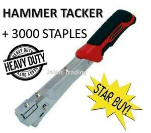 Heavy Duty Hammer Tacker Stapler  Plus 3000 Staples Roofing Flooring 4251 + 4594