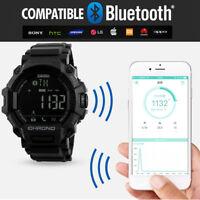 SKMEI Men Women Smart Watch Waterproof Bluetooth Digital Sports Wrist LED 5 ATM