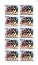 INTERNATIONAL RED CROSS Humanitarian Charity Stamp Sheet (2011 Burundi)