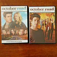 October Road DVD Complete First and Second Season (1+2) NTSC R1 Like New FREEPOS